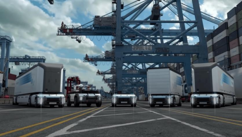 Hyundai reveals hydrogen-powered autonomous trailer drone for logistics
