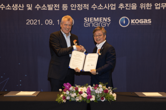 New Siemens Energy, KOGAS deal to explore producing green hydrogen in South Korea