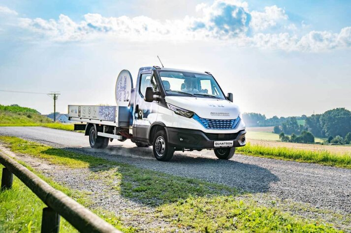 Quantron hydrogen transporter hits the European market