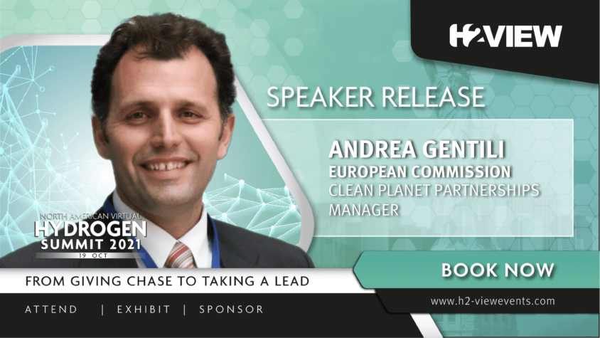European Commission's Andrea Gentili joins speaker line up for H2 View's North American Virtual Hydrogen Event