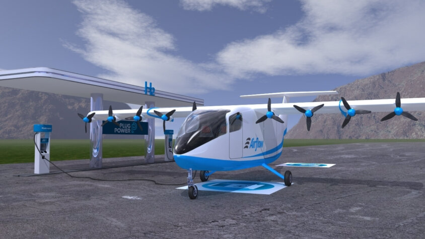Hydrogen-powered sub-regional aircraft under development; Airflow and Plug Power join forces