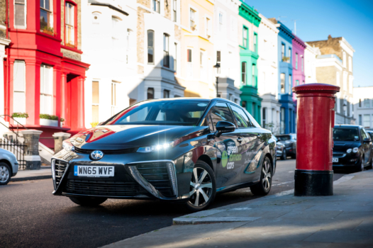 Toyota Mirai's surpass one million miles in London
