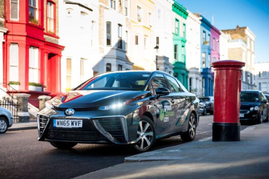 Hydrogen-powered Toyota Mirai's surpass one million miles in London