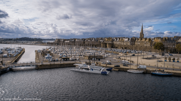 Energy Observer returns to Saint-Malo