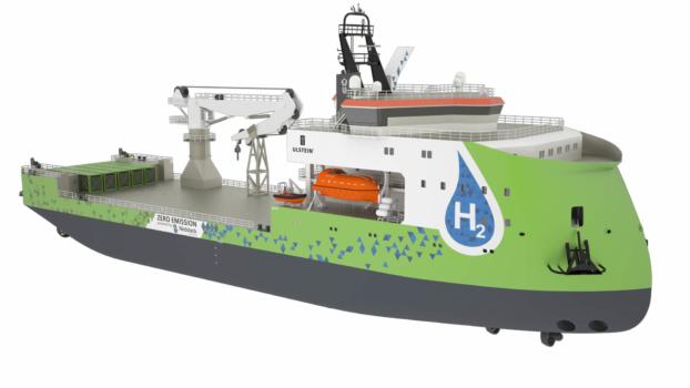 Ulstein unveils hydrogen ship
