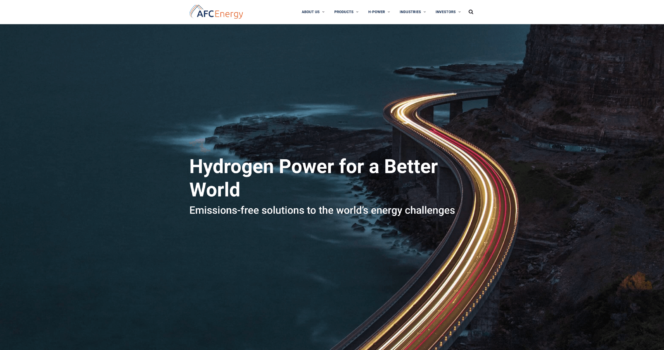 AFC Energy launches new website