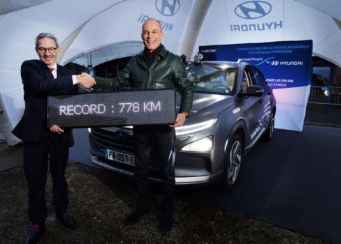 Hyundai Nexo breaks world record
