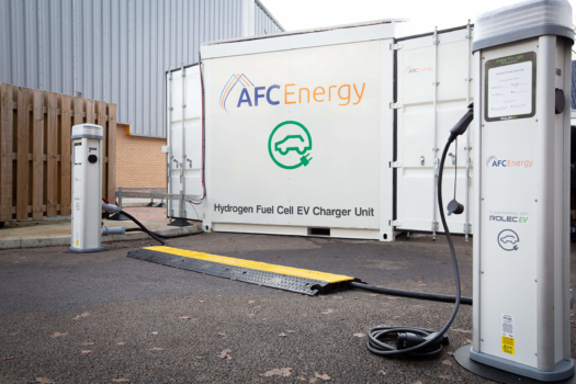 AFC Energy launches hydrogen fuelled EV charger