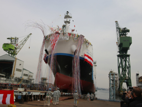 Japan launches world's first liquid hydrogen carrier